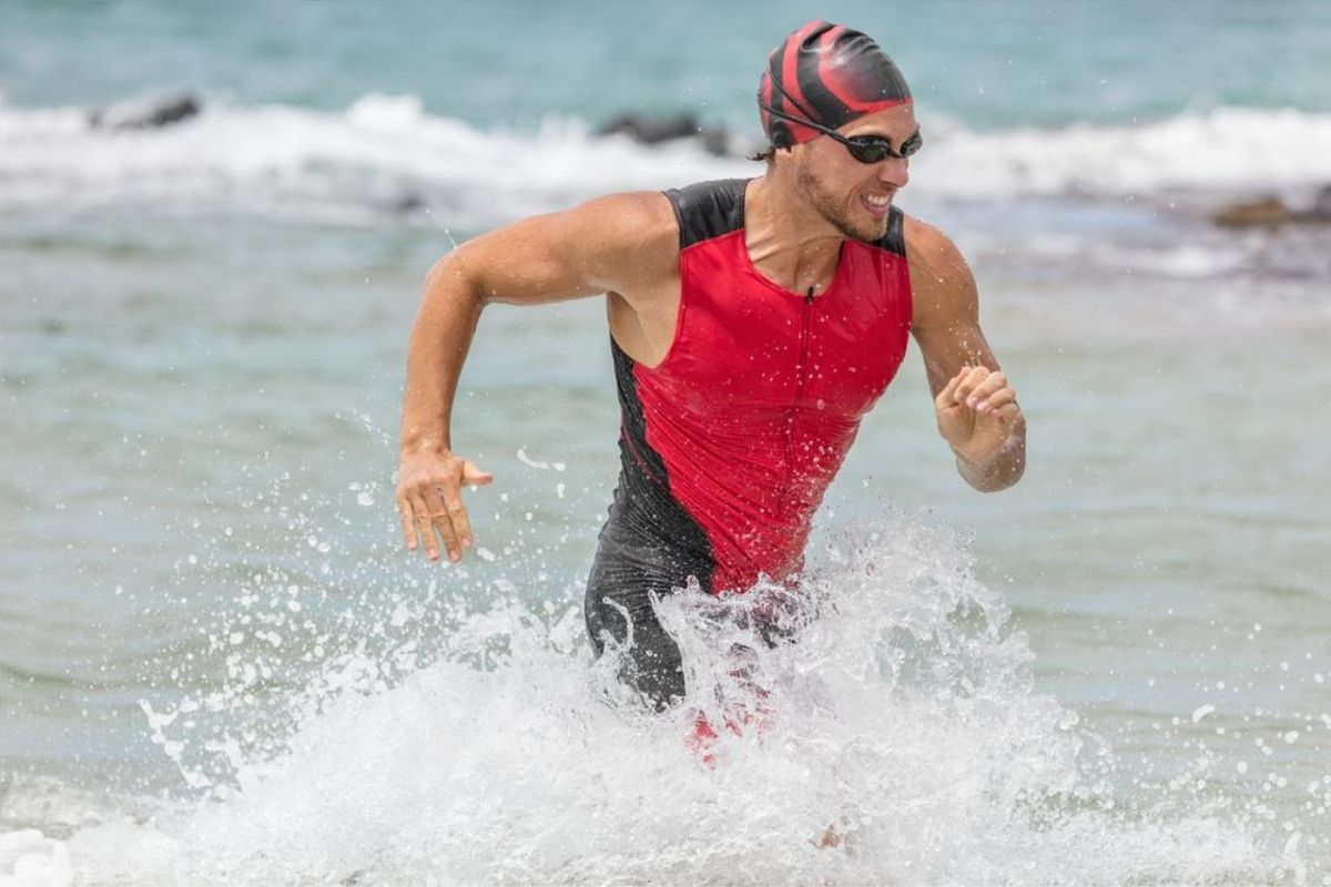 triathlete during an endurance race