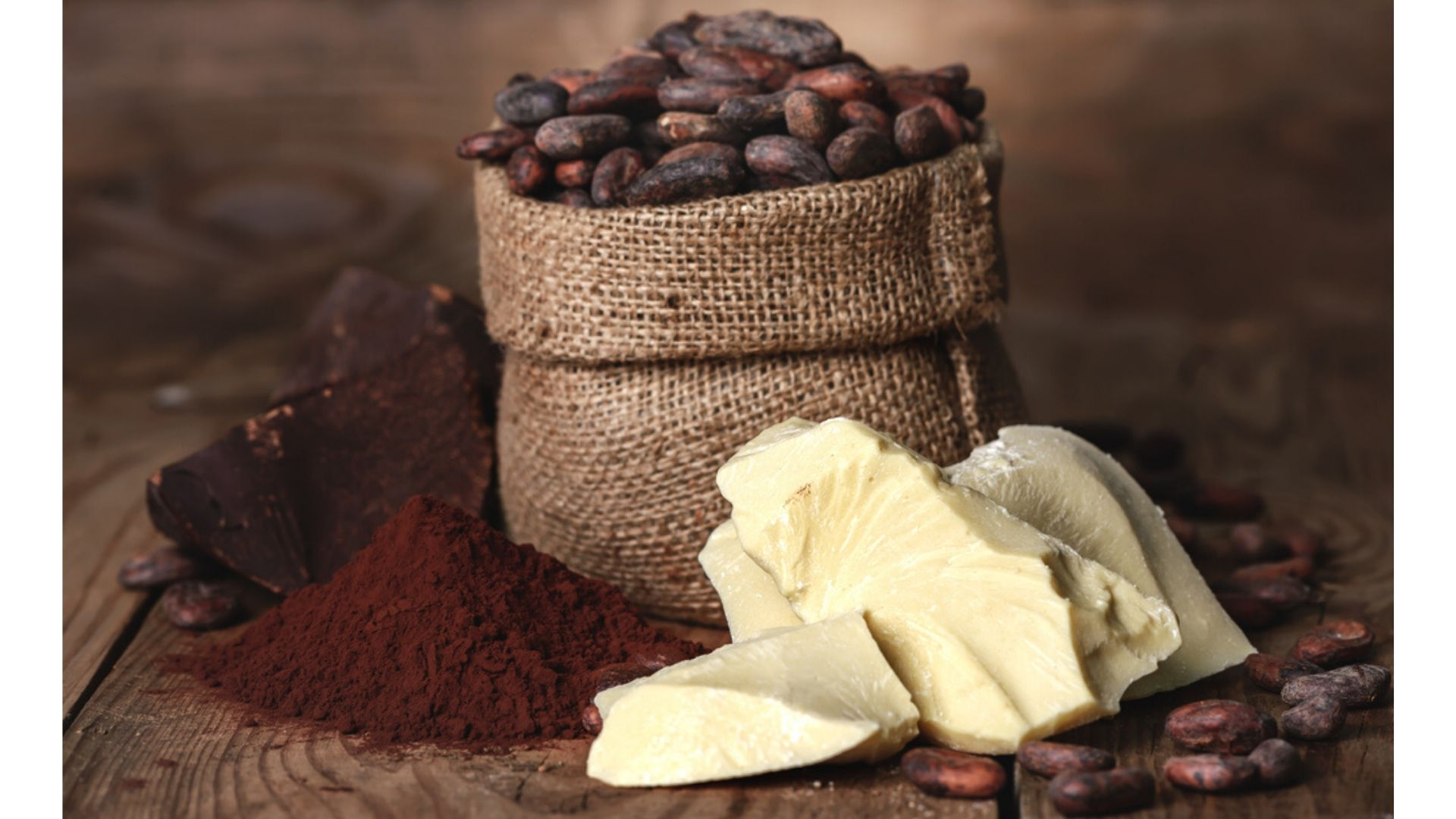 Ingredientes naturales de chocolate