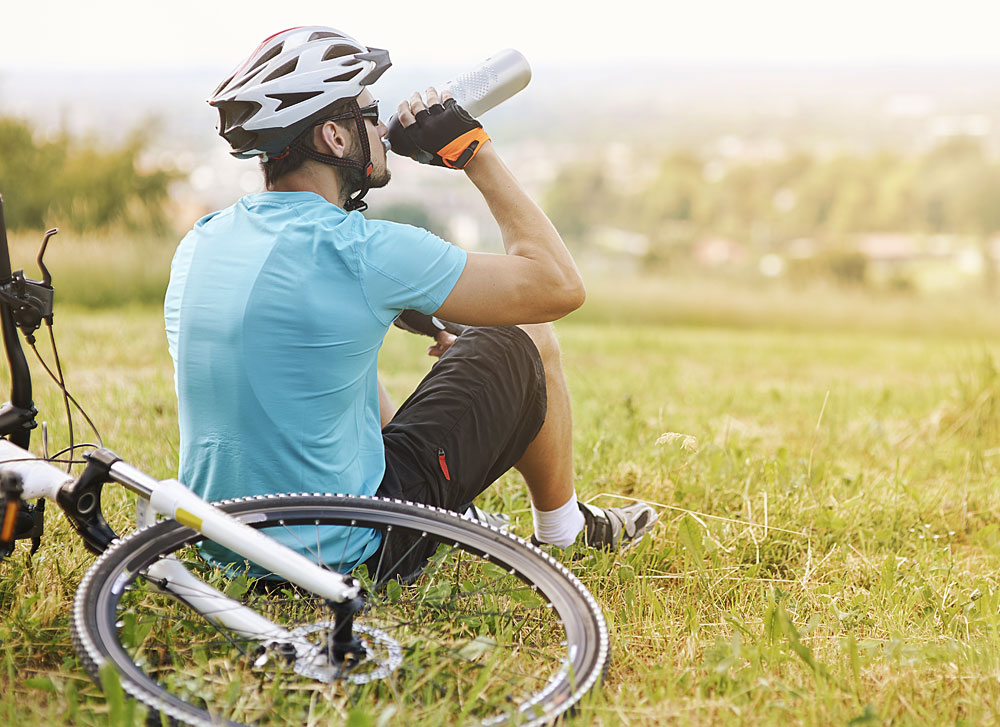 Drinking is crucial for cyclists during endurance exercise