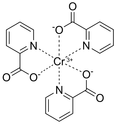 The chemical structure of chromium picolinate