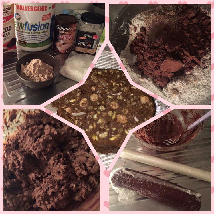 Ricetta Salame Al Cioccolato Proteico.Chocolate Salami Protein