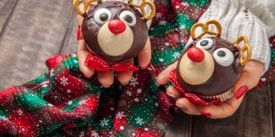 Rudolph muffin: reindeer-shaped cakes soft and ready in 5 minutes